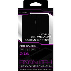 ゲーム用リチウムイオンポリマー充電器 8000mAh ブラック [ALG-GLP8BK]