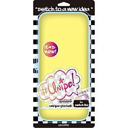 【在庫限り】 Switch Lite用EVAカラーポーチUnipo Yellow ALG-NSLEUY