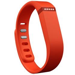 ウェアラブル活動量計(リストバンドタイプ) ワイヤレス活動量計+睡眠計リストバンド 「Fitbit Flex」 FB401TA-JPN タンジェリン