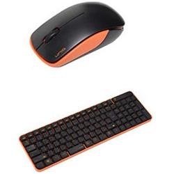 ワイヤレスキーボード[2.4GHz・USB]&マウス The Wireless Silent Mouse &Keyboard (ブラック・オレンジ) MK48367GBO