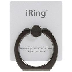 〔スマホリング〕 iRing Limited Edition ブラックシャフト/パールホワイト UMS-IRLEB01PW