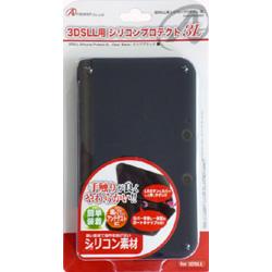 3DS LL用 シリコンプロテクト3L クリアブラック [ANS-3D030BK]