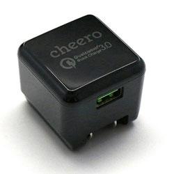 タブレット/スマートフォン対応[USB給電] AC - USB充電器 3A (1ポート・ブラック) CHE-315BK