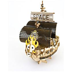 Wooden Art ki-gu-mi ワンピース スペード海賊団の海賊船