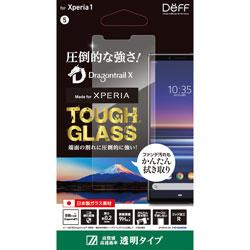 DEFF 【ビックカメラグループオリジナル】Xperia 1用ガラスフィルム TOUGH GLASS ドラゴントレイルX 透明タイプ BKS-XP1G2DF