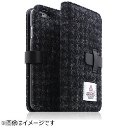 iPhone 6s/6用 Harris Tweed Diary ブラック SLG Design SD7286i6S