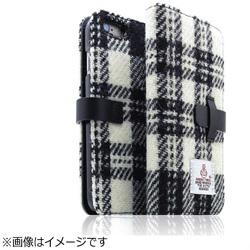 iPhone 6s/6用 Harris Tweed Diary ホワイトxブラック SLG Design SD7291i6S