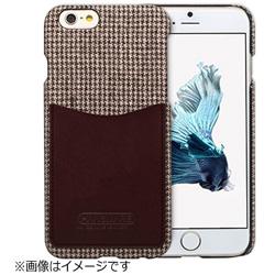 iPhone 6s/6用 Leather Pocket Bar ハウンドトゥース ブラウン HANSMARE HAN7320i6S