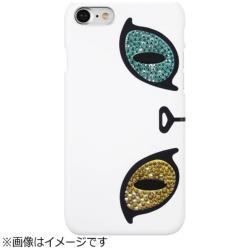 iPhone 7用 Kuncat X Gaze Swarovski Odd-eye ホワイト GAZE GZ8023i7