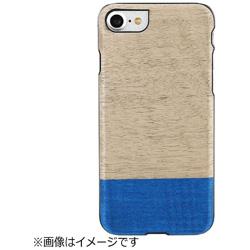 iPhone 7用 天然木ケース Dove ブラックフレーム Man&Wood I8076i7