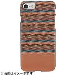 iPhone 7用 天然木ケース Browny check ブラックフレーム Man&Wood I8079i7