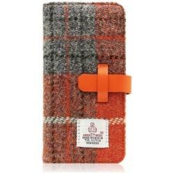 iPhone 7用 Harris Tweed Diary オレンジ×グレー SLG Design SD8119i7
