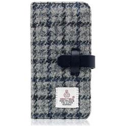 iPhone 7用 Harris Tweed Diary グレー×ネイビー SLG Design SD8120i7