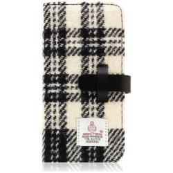 iPhone 7用 Harris Tweed Diary ホワイト×ブラック SLG Design SD8122i7