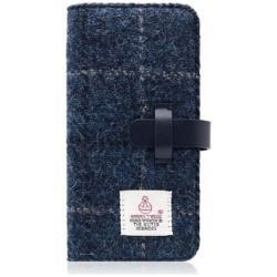 iPhone 7用 Harris Tweed Diary ネイビー SLG Design SD8123i7