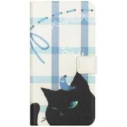 iPhone 7用 Cat Couple Diary ブラック Happymori HM8240i7
