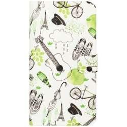 iPhone 7用 French Cafe Diary グリーン Happymori HM8241i7