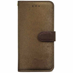 iPhone 7用 手帳型 CALF Diary ゴールデンブラウン HANSMARE HAN8264i7