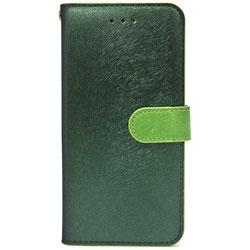 iPhone 7用 手帳型 CALF Diary フォレストグリーン HANSMARE HAN8266i7
