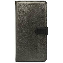iPhone 7 Plus用 CALF Diary メタルブラック HANSMARE HAN8267i7P