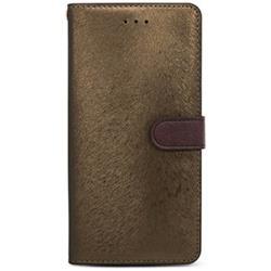iPhone 7 Plus用 CALF Diary ゴールデンブラウン HANSMARE HAN8269i7P