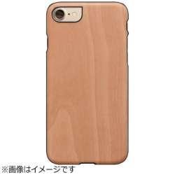 iPhone 7用 天然木ケース Ampero ブラックフレーム Man&Wood I9276I7