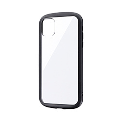 iPhone 11 6.1インチ PALLET CLEAR 耐衝撃ケース ブラック LP-IM19PLCBK