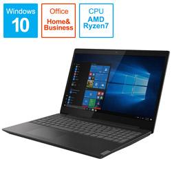Lenovo(レノボジャパン) ノートPC ideapad L340 81LW002PJP グラナイトブラック [Ryzen 7・15.6インチ・Office付き・SSD 256GB・メモリ 8GB]