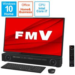 FMVFXE2B デスクトップパソコン ESPRIMO FH-X/E2(4K・テレビ機能) オーシャンブラック [27型 /HDD:3TB /Optane:16GB /SSD:256GB /メモリ:8GB /2020年夏モデル]