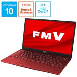 ノートパソコン LIFEBOOK UH90/E3 ガーネットレッド FMVU90E3R [13.3型 /intel Core i7 /SSD:512GB /メモリ:8GB /2020年冬モデル]