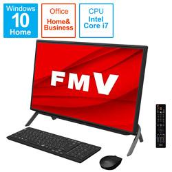 FMVF77E3B デスクトップパソコン ESPRIMO FH77/E3(テレビ機能) ブラック [23.8型 /HDD:1TB /SSD:256GB /メモリ:8GB /2020年冬モデル]