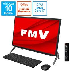 FUJITSU(富士通) FMVF77E3BB デスクトップパソコン ESPRIMO FH77/E3(テレビ機能) ブラック [23.8型 /intel Core i7 /HDD:1TB /Optane:16GB /SSD:256GB /メモリ:8GB /2020年冬モデル]