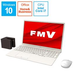 ノートパソコン LIFEBOOK TH77/E3 アイボリーホワイト FMVT77E3WB [15.6型 /intel Core i7 /Optane:32GB /SSD:512GB /メモリ:8GB /2020年冬モデル]