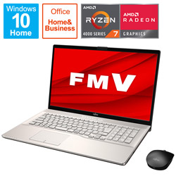 FUJITSU(富士通) ノートパソコン LIFEBOOK NH78/E3 シャンパンゴールド FMVN78E3GB [17.3型 /AMD Ryzen 7 /SSD:1TB /メモリ:8GB /2021年1月モデル]