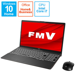ノートパソコン LIFEBOOK AH-X/F1(4K有機EL) ブライトブラック FMVAXF1B [15.6型 /intel Core i7 /SSD:1TB /メモリ:16GB /2021年春モデル]
