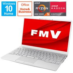 FUJITSU(富士通) 【店頭併売品】 ノートパソコン LIFEBOOK UH75/E3 シルバーホワイト FMVU75E3WB [13.3型 /AMD Ryzen 5 /SSD:512GB /メモリ:8GB /2020年冬モデル]