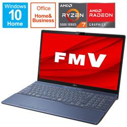 FUJITSU(富士通) ノートパソコン LIFEBOOK AH76/F1 メタリックブルー FMVA76F1LB [15.6型 /AMD Ryzen 7 /SSD:512GB /メモリ:8GB /2021年春モデル]