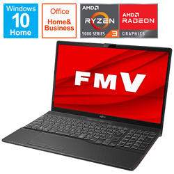 FUJITSU(富士通) ノートパソコン LIFEBOOK AH43/F1 ブライトブラック FMVA43F1BB [15.6型 /AMD Ryzen 3 /SSD:512GB /メモリ:8GB /2021年春モデル]