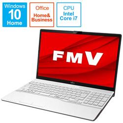 FUJITSU(富士通) ノートパソコン LIFEBOOK AH50/F プレミアムホワイト FMVA500FW1 [15.6型 /intel Core i7 /SSD:256GB /メモリ:8GB /2021年春モデル]
