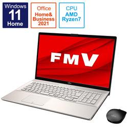 ノートパソコン LIFEBOOK NH77/F3 シャンパンゴールド FMVN77F3G [17.3型 /AMD Ryzen 7 /メモリ:8GB /SSD:512GB /2021年10月モデル]