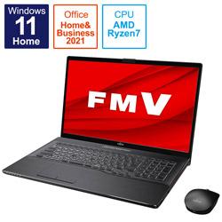 ノートパソコン LIFEBOOK NH77/F3 ブライトブラック FMVN77F3B [17.3型 /AMD Ryzen 7 /メモリ:8GB /SSD:512GB /2021年10月モデル]