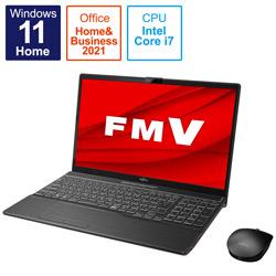 ノートパソコン LIFEBOOK AH53/F3 ブライトブラック FMVA53F3B [15.6型 /intel Core i7 /メモリ:8GB /SSD:512GB /2021年10月モデル]