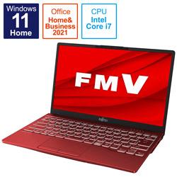 ノートパソコン LIFEBOOK UH90/F3 ガーネットレッド FMVU90F3R [13.3型 /intel Core i7 /メモリ:8GB /SSD:512GB /2021年10月モデル]