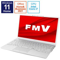 ノートパソコン LIFEBOOK UH90/F3 シルバーホワイト FMVU90F3W [13.3型 /intel Core i7 /メモリ:8GB /SSD:512GB /2021年10月モデル]