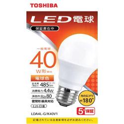 LED電球 広配光 電球色 40W形相当 LDA4L-G/K40V1