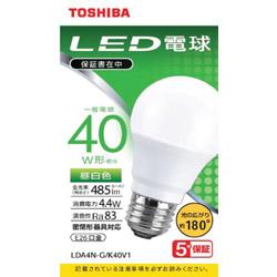 LED電球 広配光 昼白色 40W形相当 LDA4N-G/K40V1