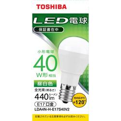LED電球 口金E17 ミニクリプトン形 調光非対応 全光束440lm 昼白色 配光角ビーム角120度 40W相当 LDA4N-H-E17S40V2