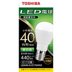 LED電球 口金E17 ミニクリプトン形 調光非対応 全光束440lm 昼白色 配光角ビーム角180度 40W相当 LDA4N-G-E17S40V2