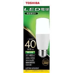 LED電球(T形)40W相当 昼白色 口金E26 LDT4N-G/S/40V1