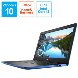 DELL(デル) NI335L-AHHBBL ノートパソコン Inspiron 15(3593) ブルー [15.6型 /intel Core i3 /SSD:256GB /メモリ:4GB /2020年春モデル]